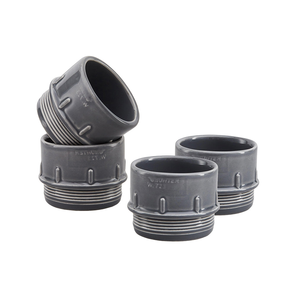 Pipe Espresso / Condiment Cups In Grey