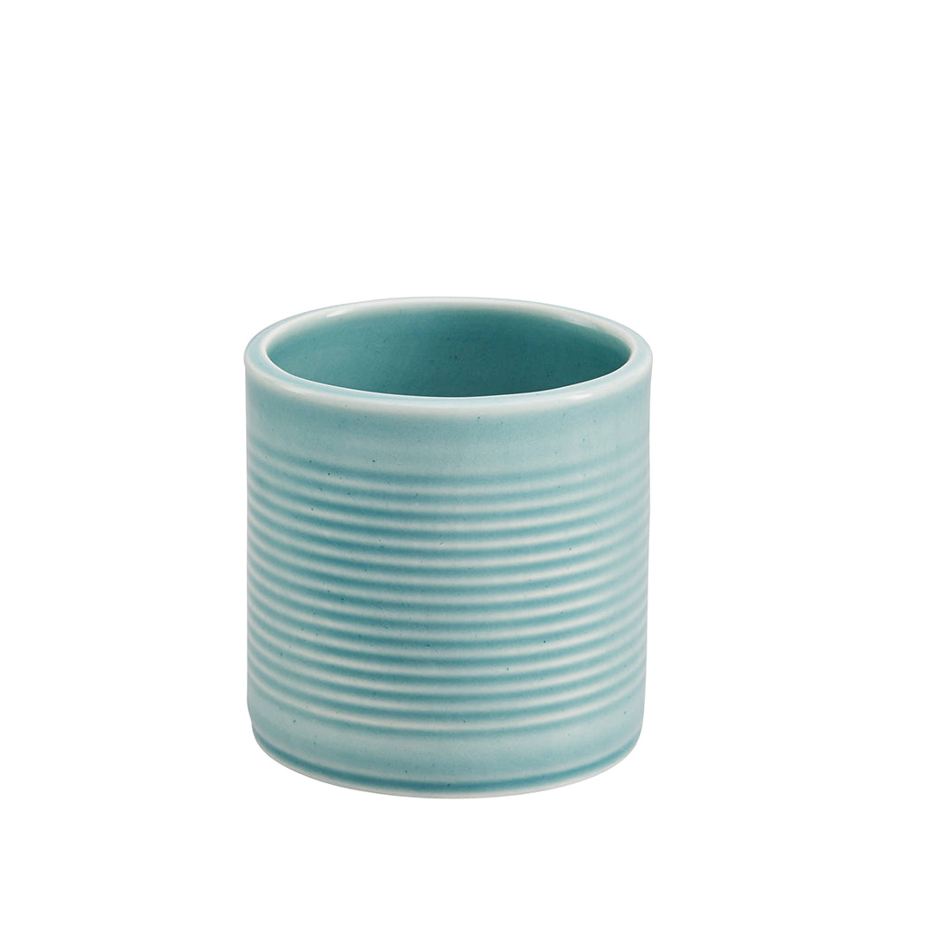 Tin Can Small Cup / Pen Pot In Blue