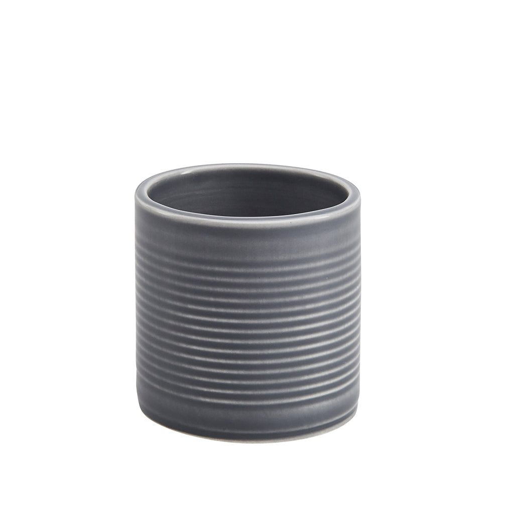 Tin Can Small Cup / Pen Pot In Grey