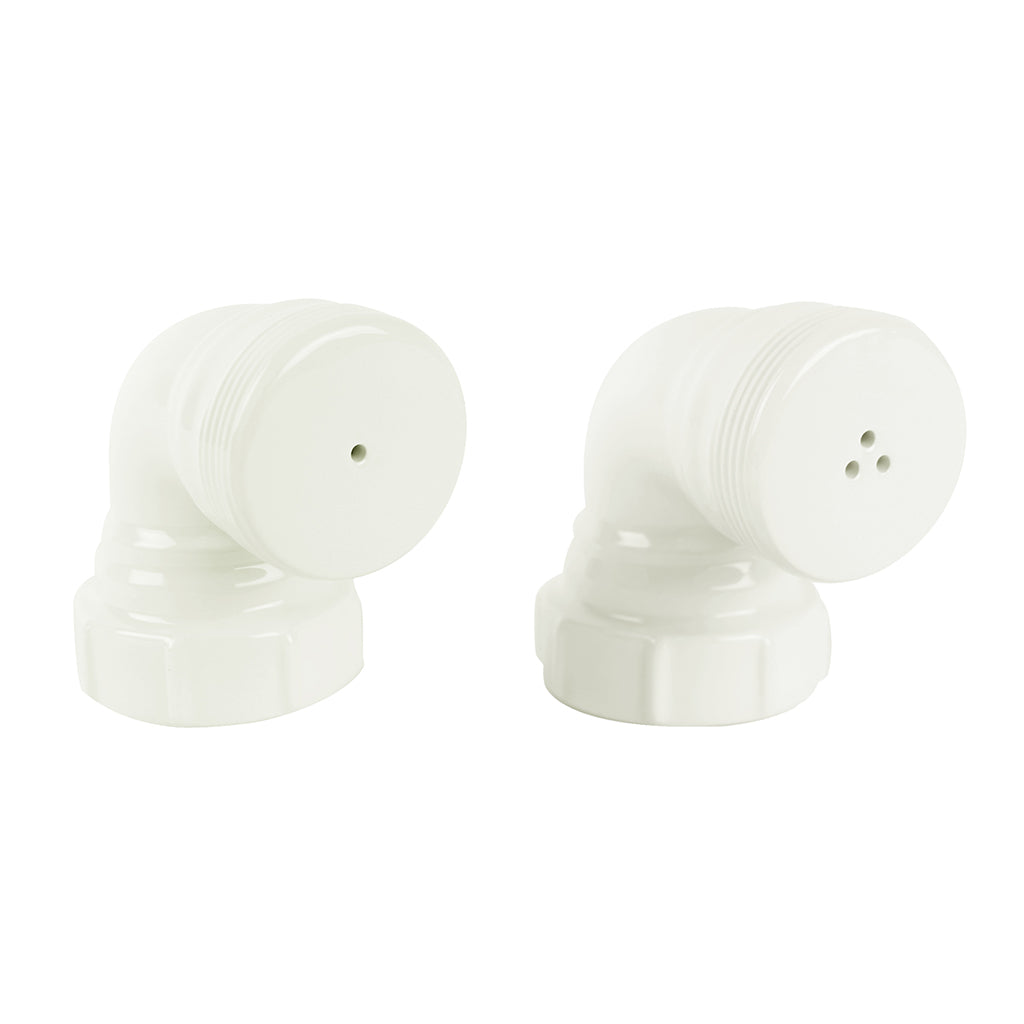 Salt & Pepper Pipes In White