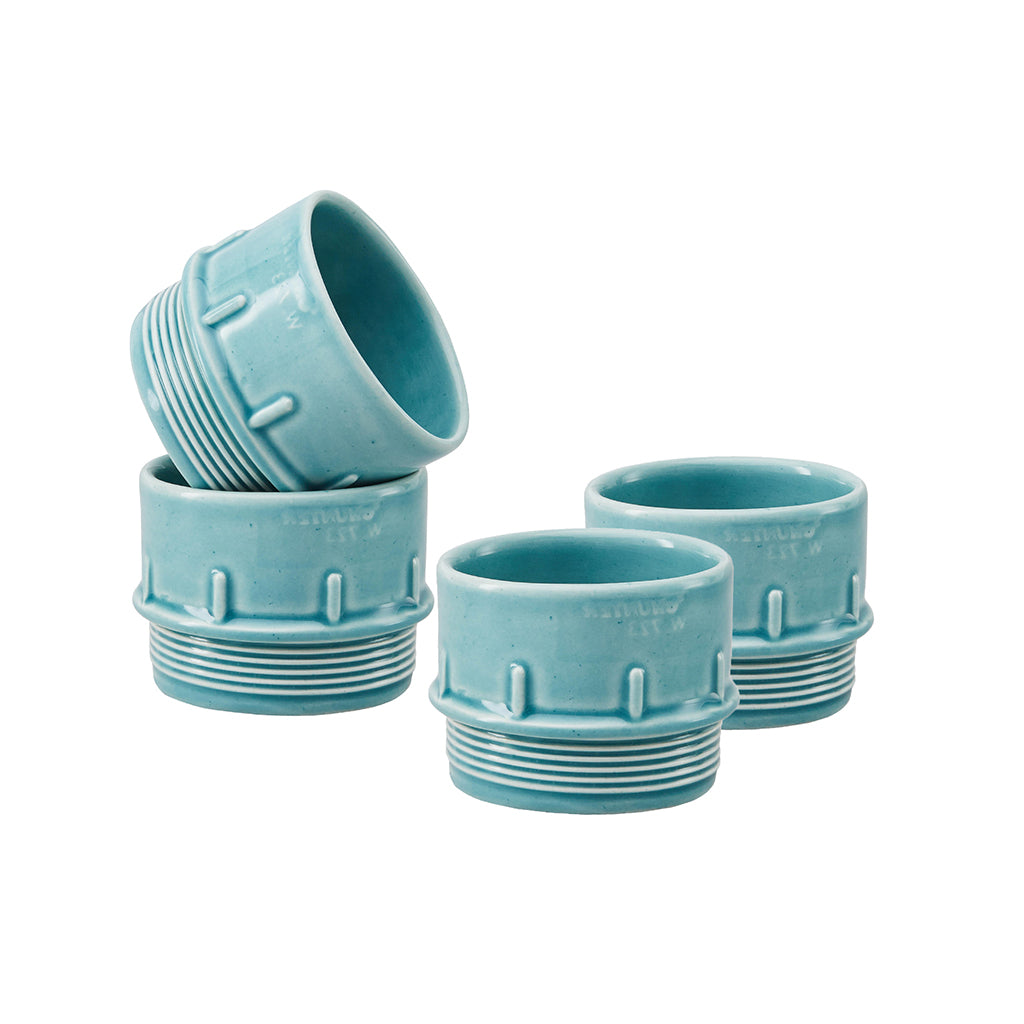 Pipe Espresso / Condiment Cups In Blue