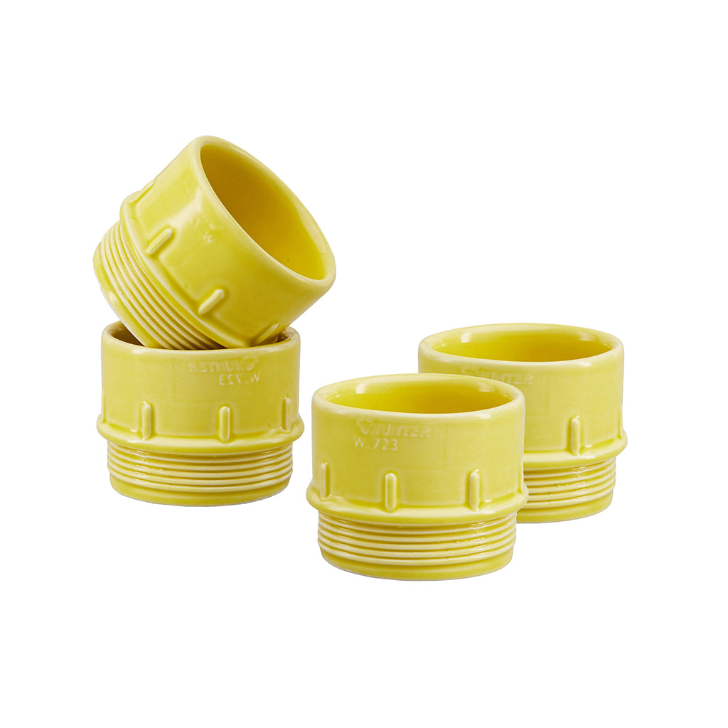 Pipe Espresso / Condiment Cups In Yellow