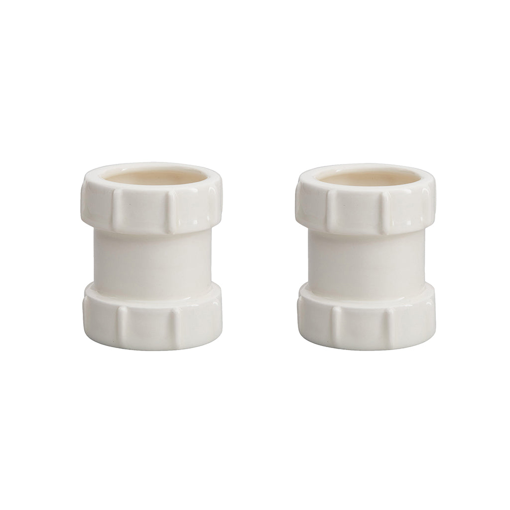 Pipe Egg Cups In White
