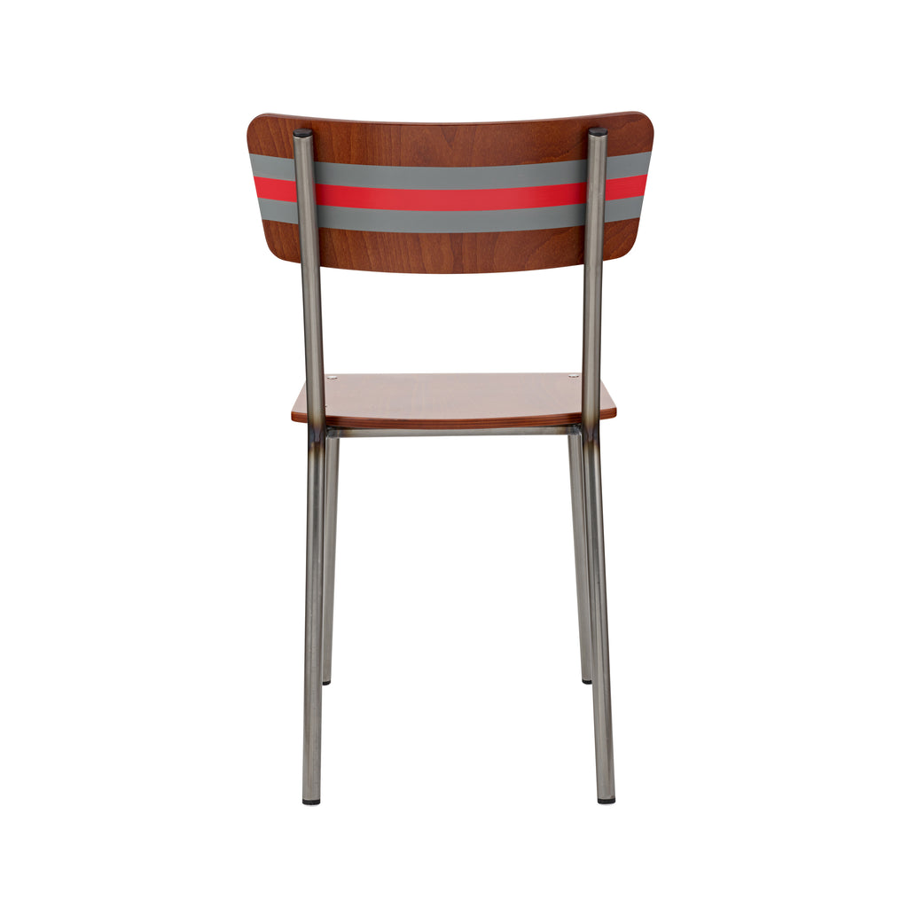 the-classic-british-school-chair-is-revisited-in-rich-mahogany-and-contemporary-stripe