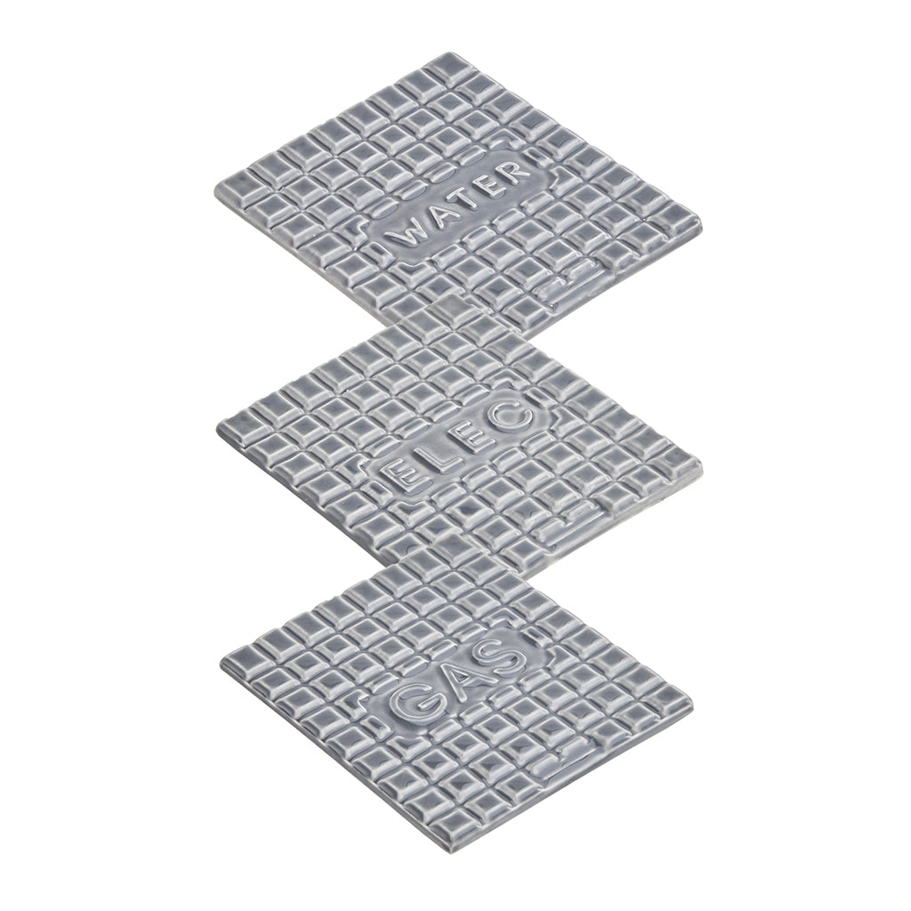 Manhole Coasters In Grey