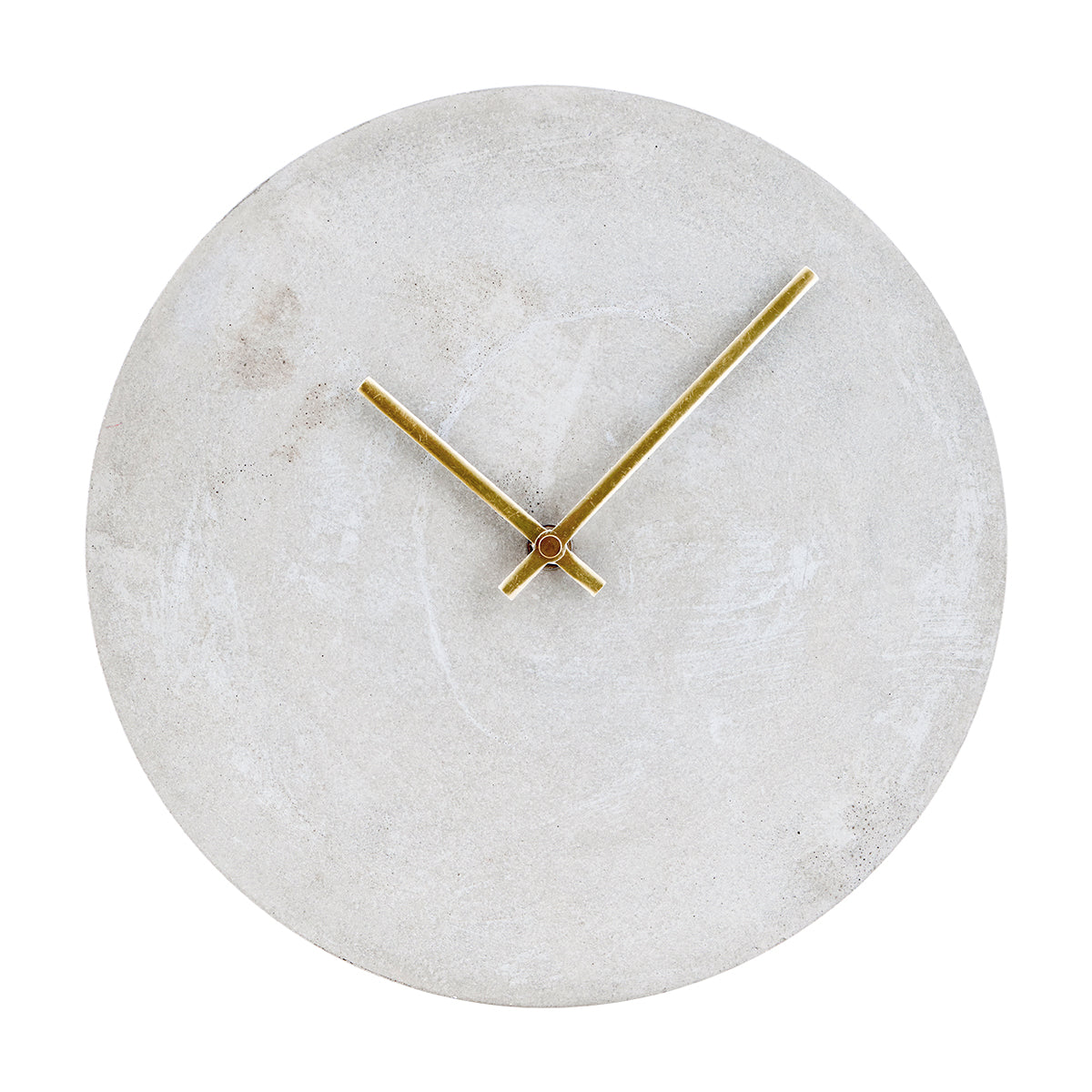this-industrial-style-concrete-clock-with-brass-handles-is-available-to-buy-in-the-warehouse-home-shop