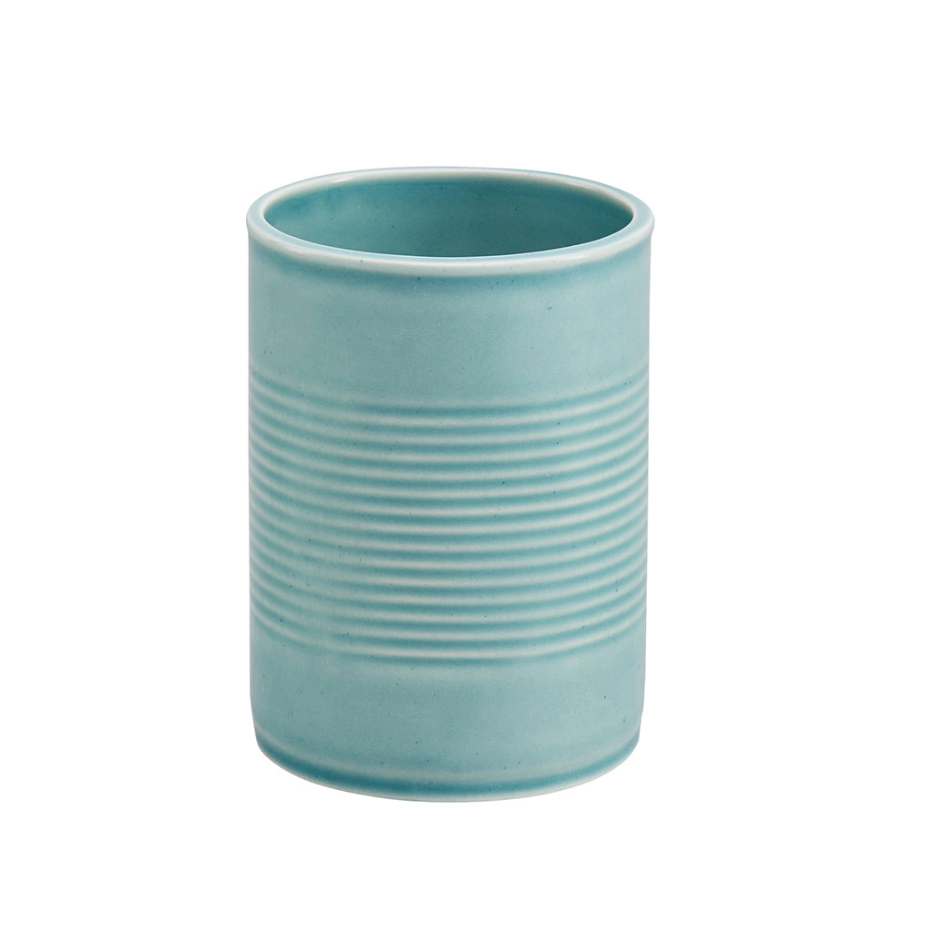 Tin Can Large Cup / Pen Pot In Blue