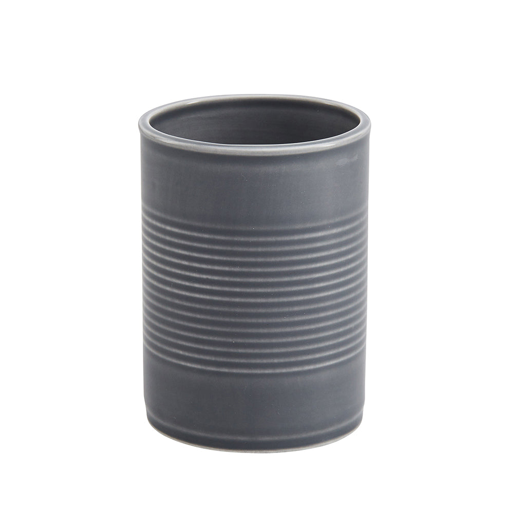 Tin Can Large Cup / Pen Pot In Grey