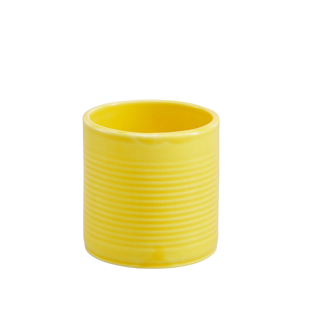 Tin Can Small Cup / Pen Pot In Yellow