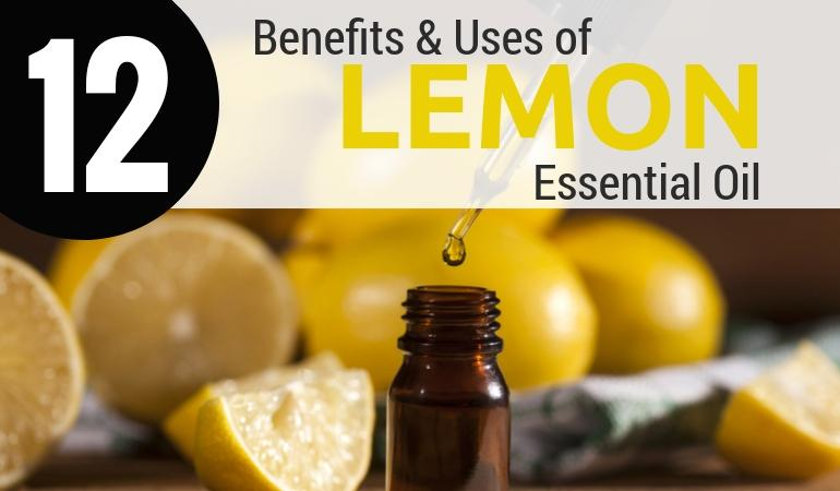 Top 12 Health Benefits of Lemon Essential Oil & How To Use It