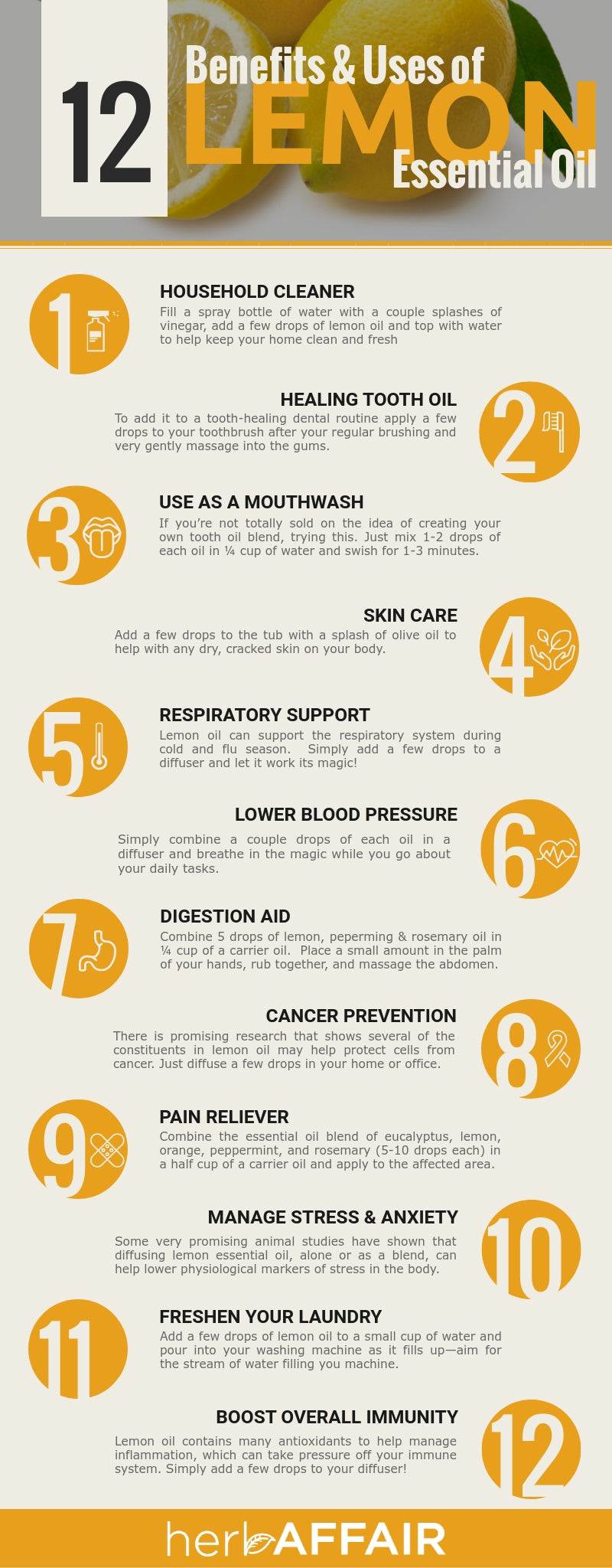 12 Benefits and Uses of Lemon Essential Oil