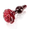 Icicles No. 76 Glass Rose Butt Plug - Little Kinx