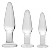 Dosha 3 Piece Glass Anal Butt Plug Kit - Little Kinx