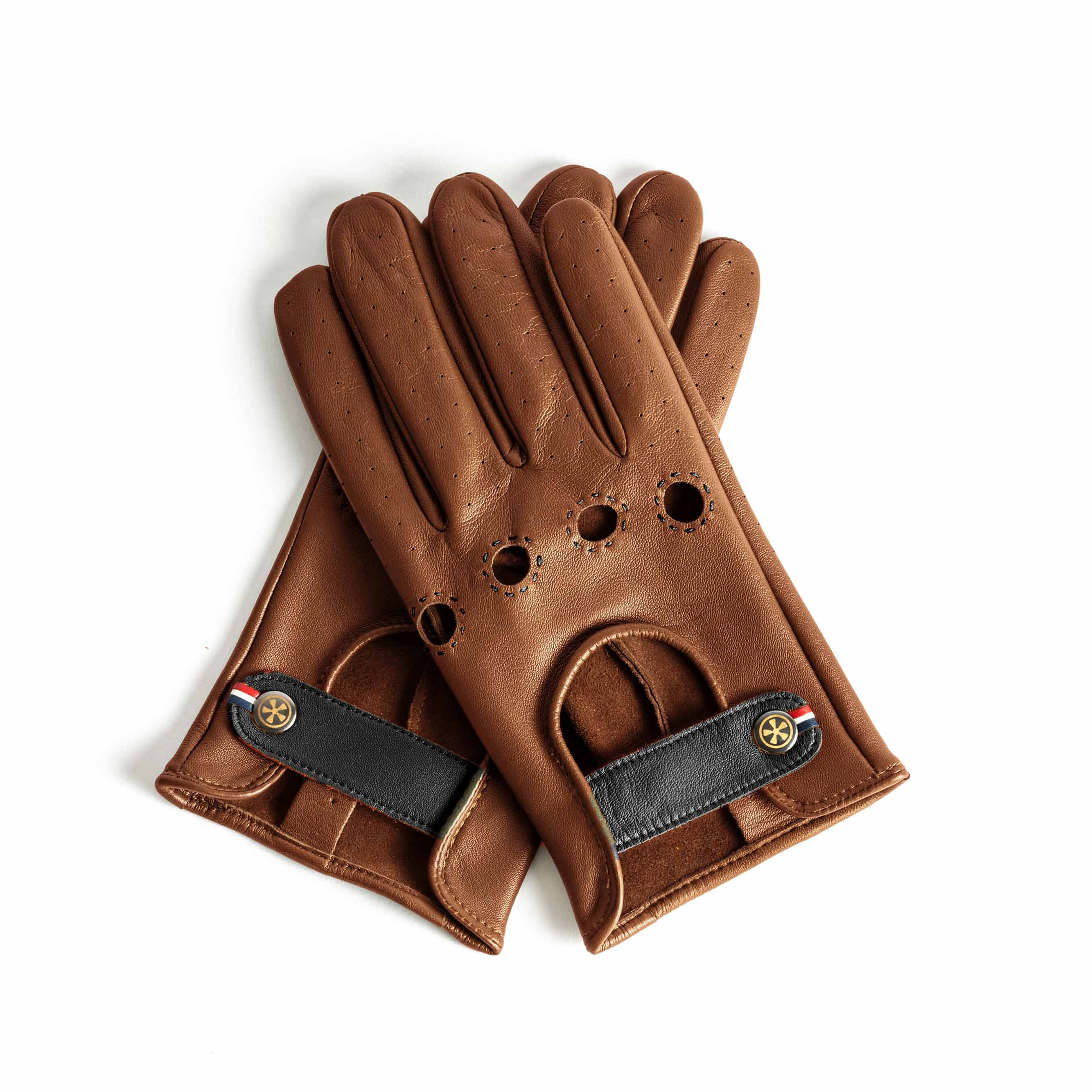 Car Drivers Gloves Car Driver Gloves Vintage Retro Lamb Leather Leather Brown