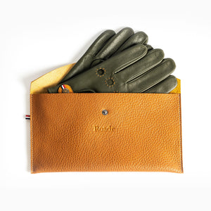 Driving Gloves With Leather Case