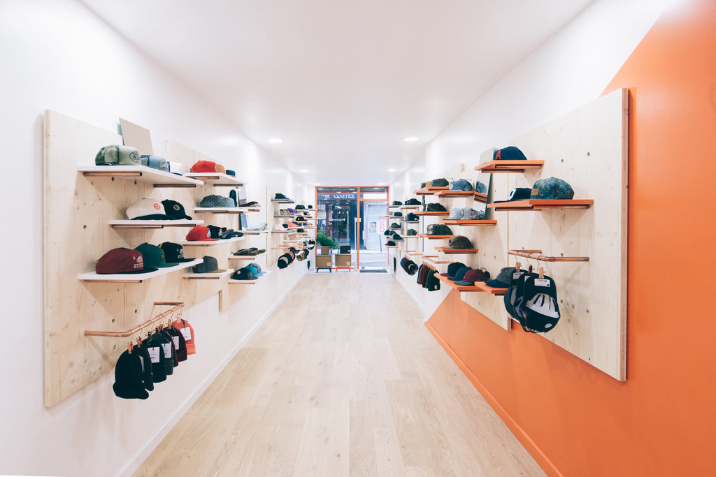 Simone Headwear showroom