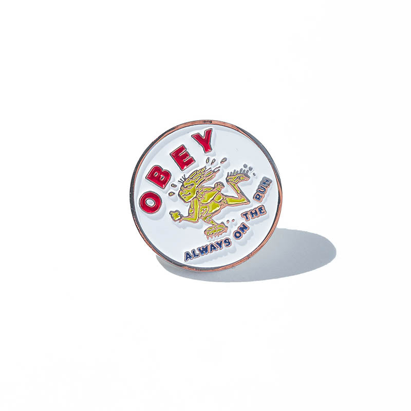 Pin's Rond Obey - Always On The Run