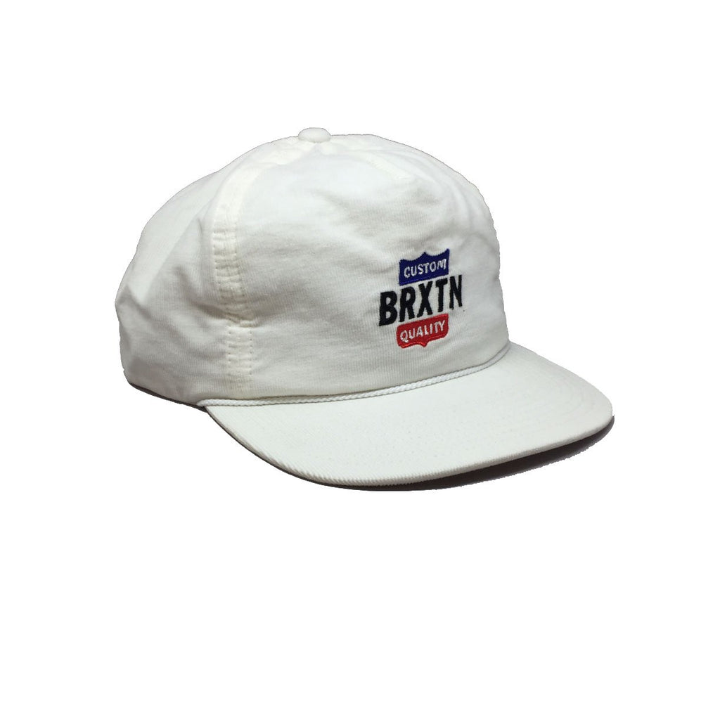 Casquette Brixton blanc Garth HP Off White