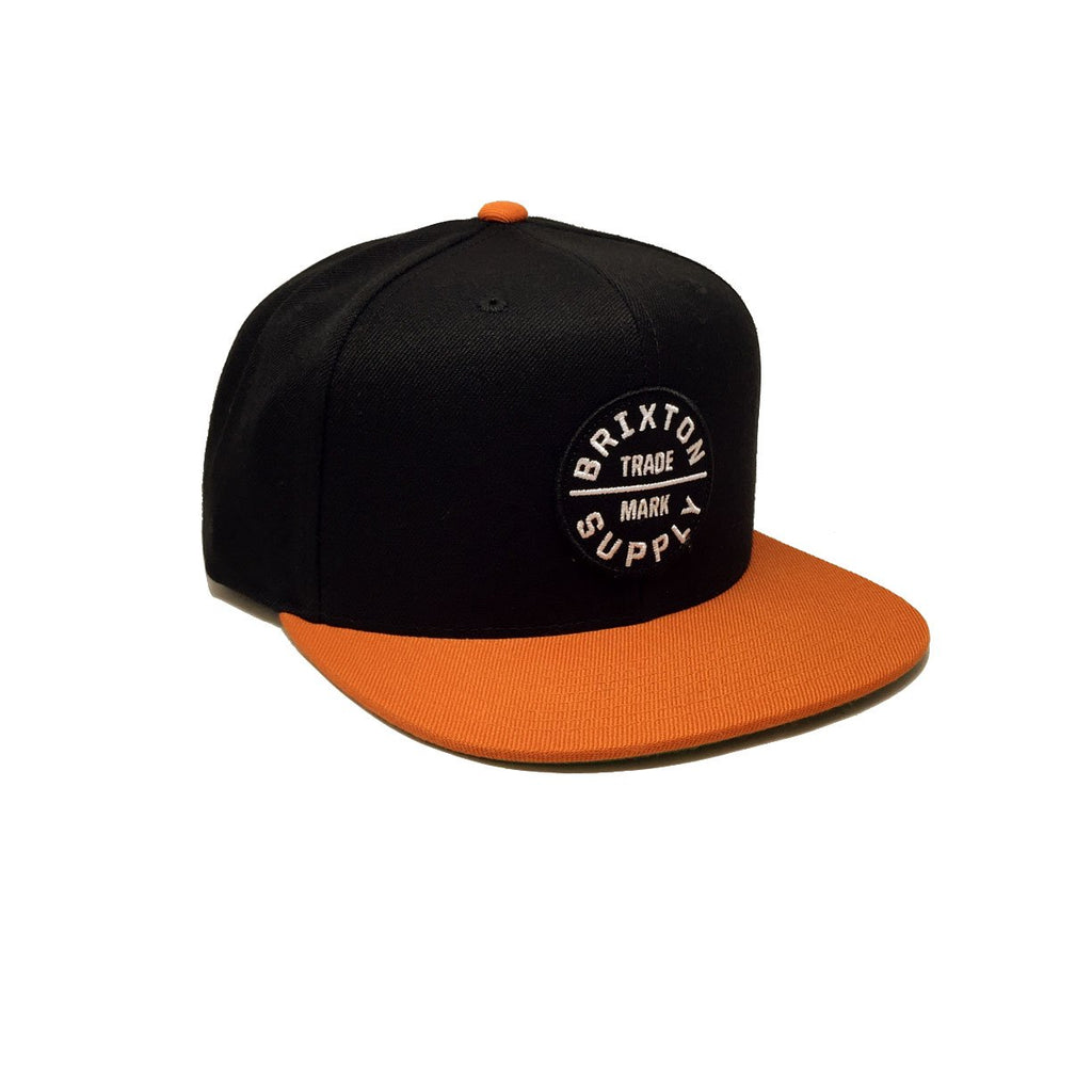 Casquette Brixton Orange Noir Oath III Black Burnt