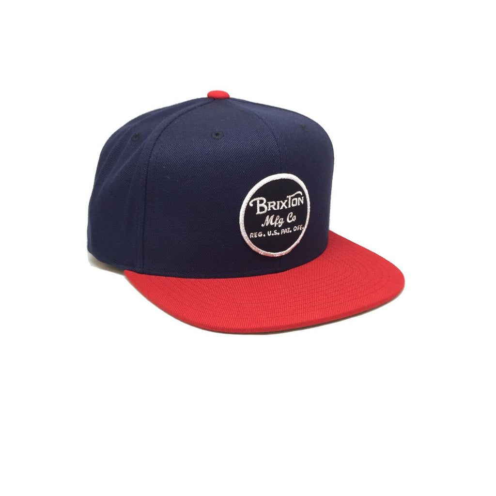 Casquette Brixton - Wheeler Snapback Navy Red