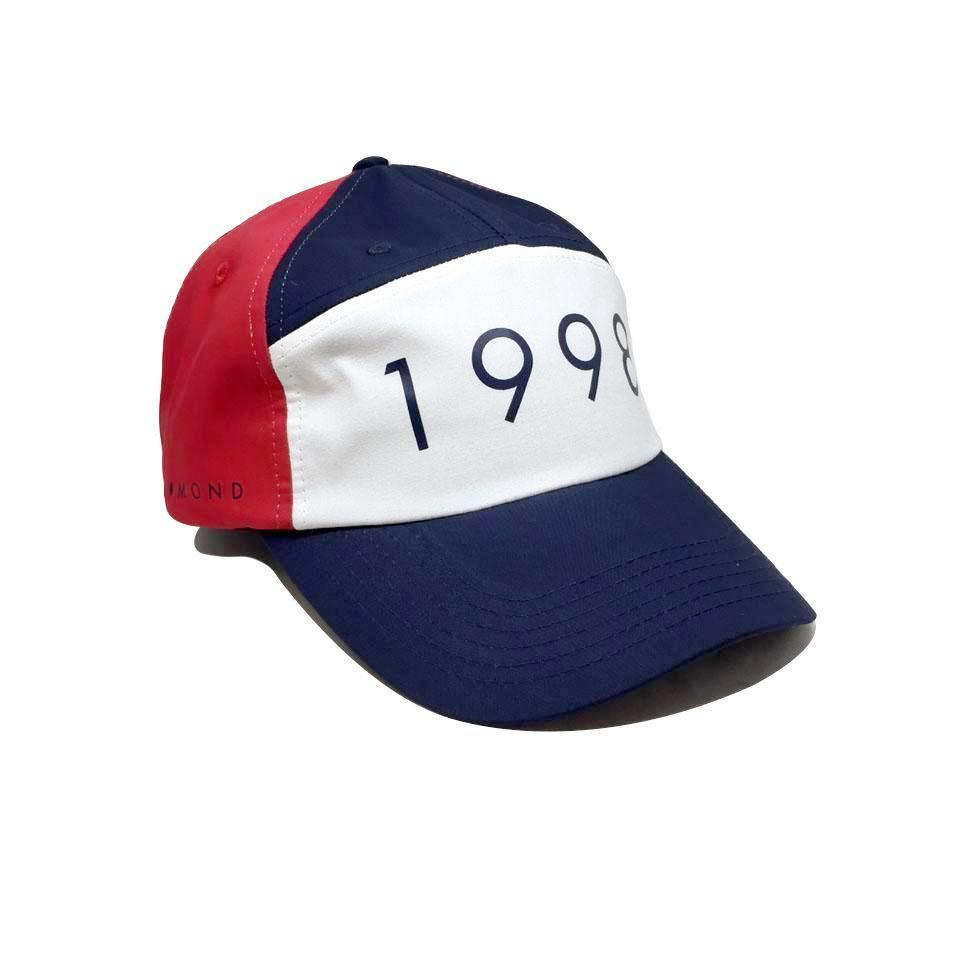 Casquette Diamond 1998 Sports Hat Navy Bleu Marine Blanc Rouge