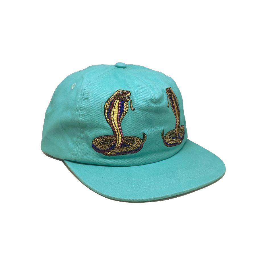 Casquette Diamond Cobra Unstructured Strapback Diamond Blue Bleue Turquoise