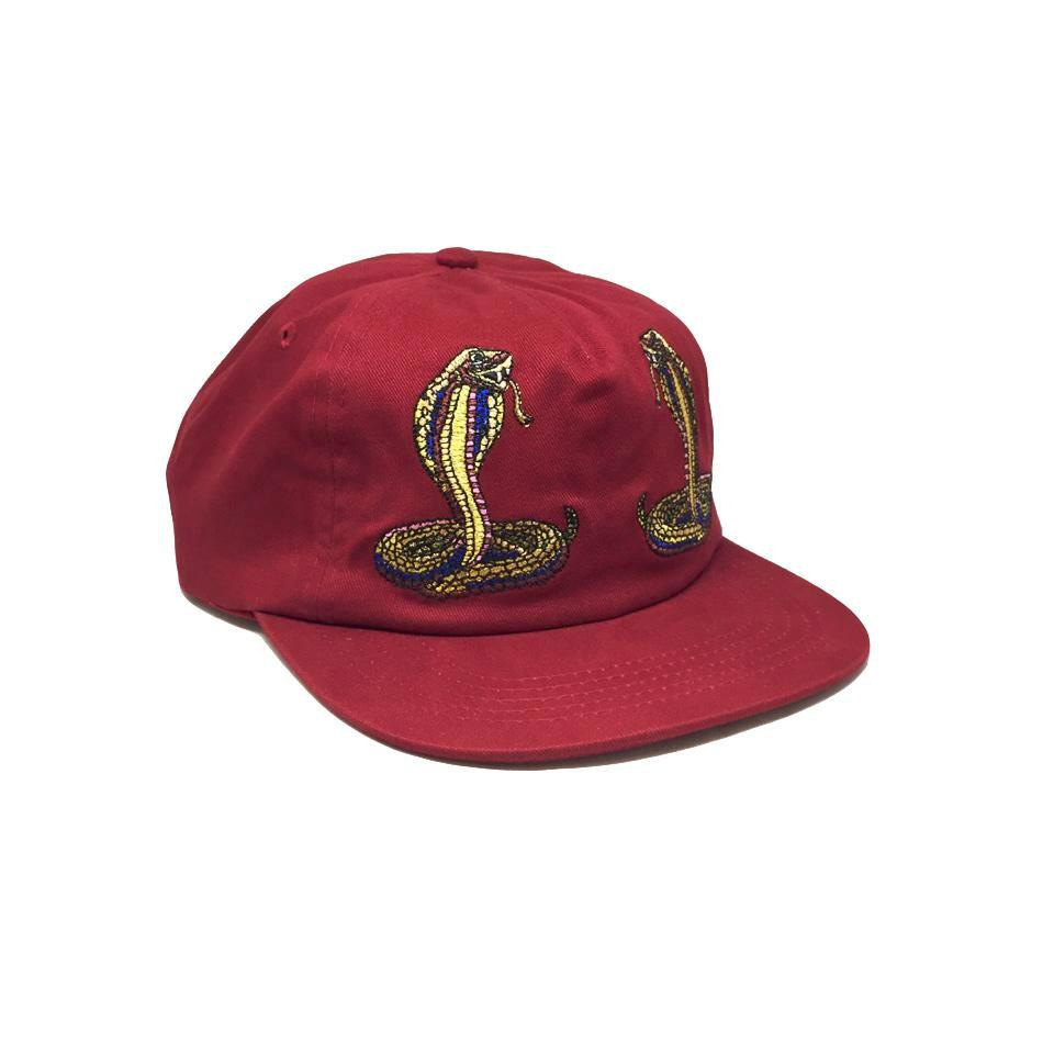 Casquette Diamond Cobra Unstructured Strapback Red Rouge Bordeaux