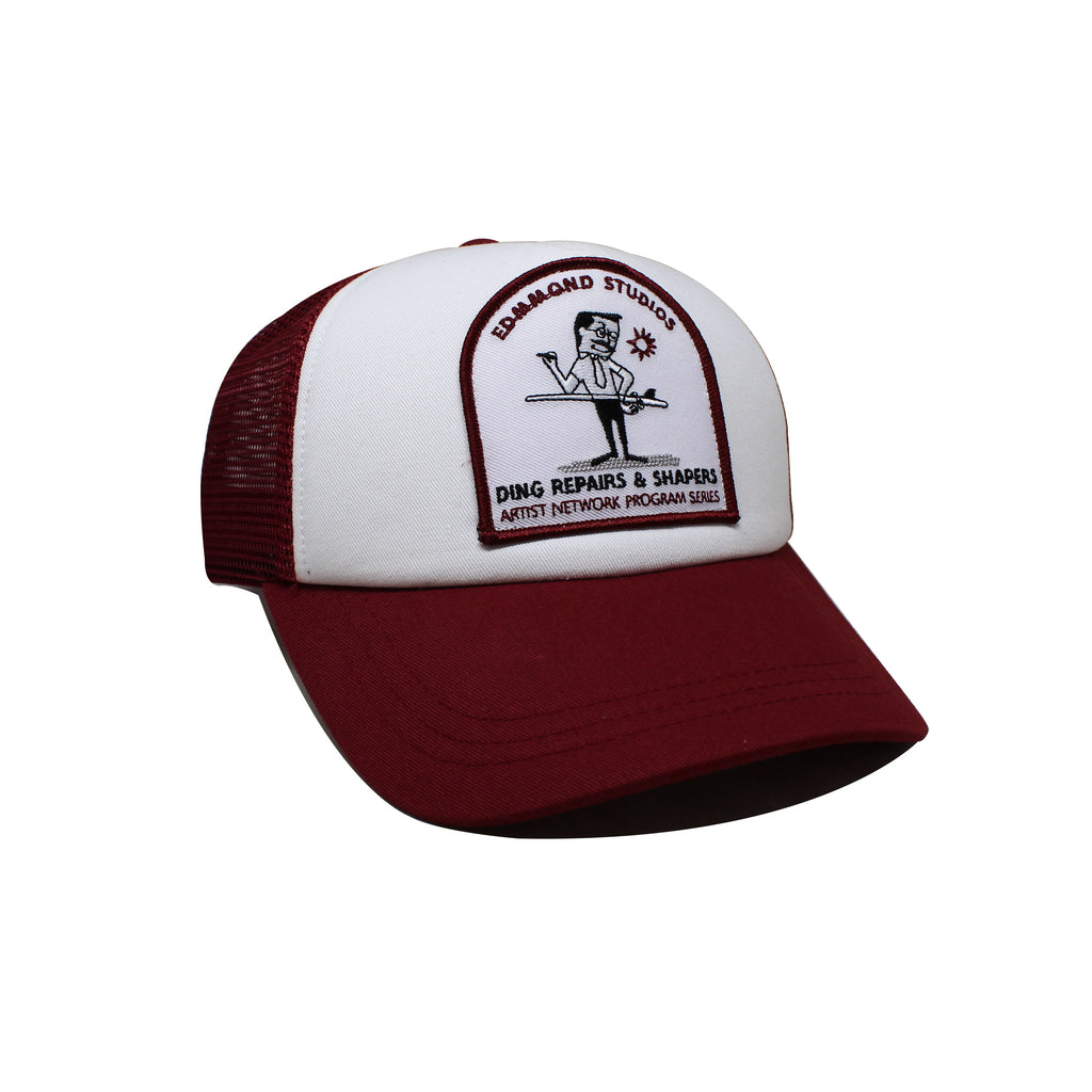 Casquette Edmmond Studios The Shaper Trucker Bordeaux