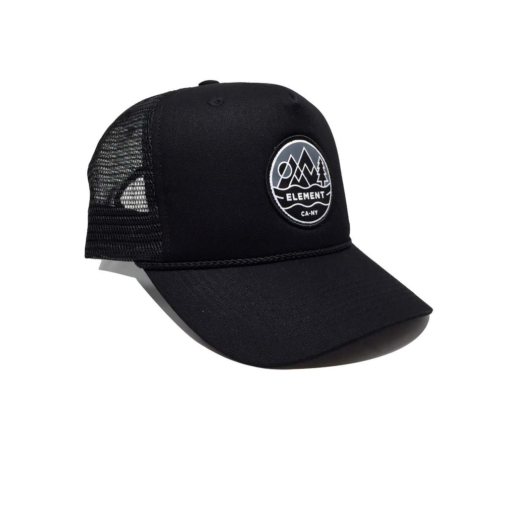 Emblem II Trucker Flint Black Noir Element - Casquette