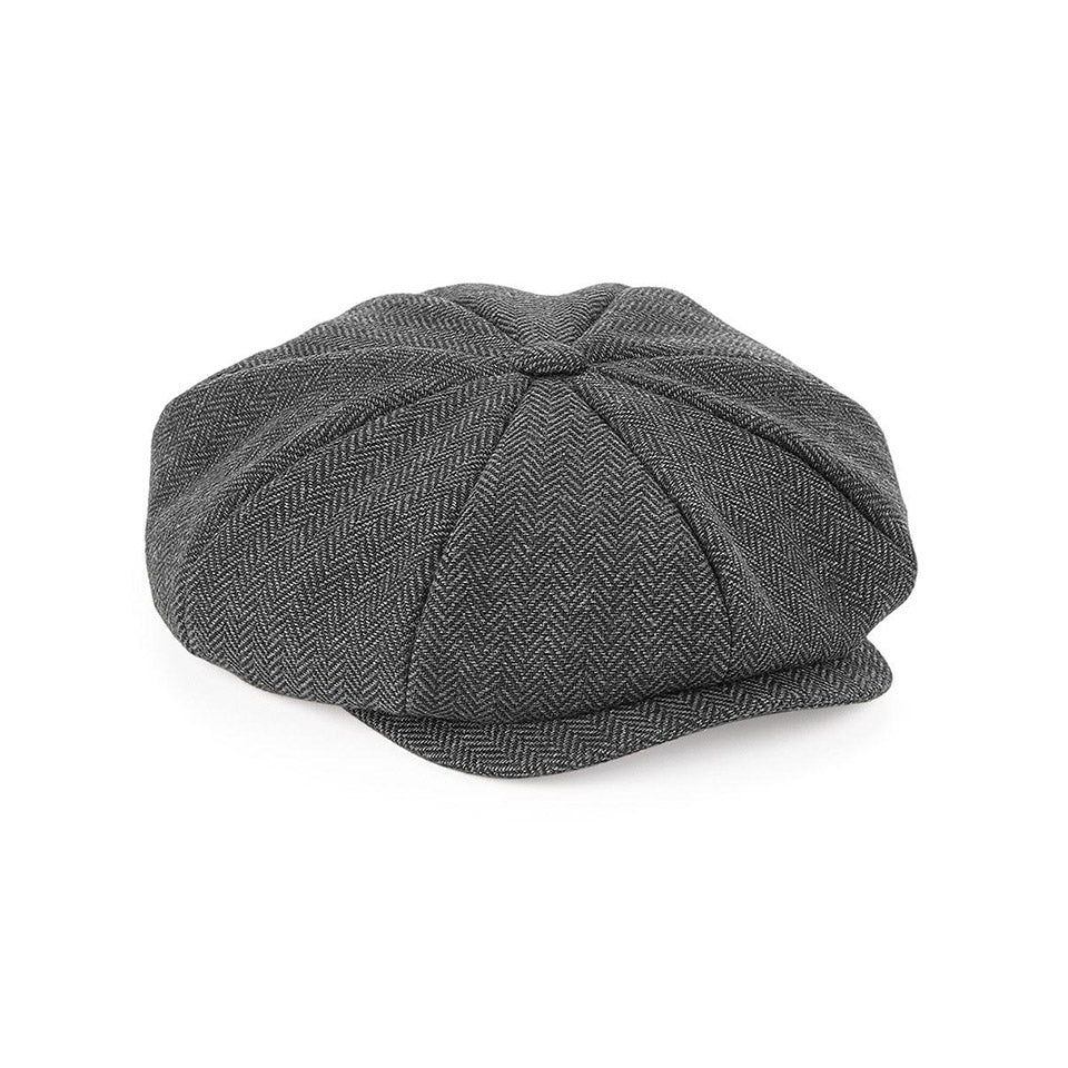 Casquette Peaky Blinders Gavroche Chevrons Grise