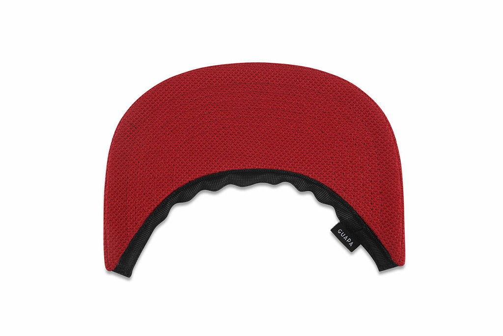 Visière rouge guapa - red fabric visor
