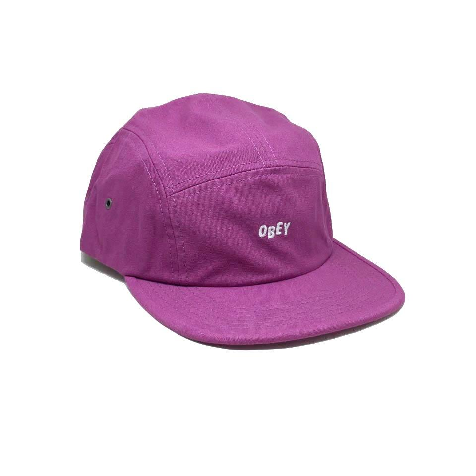 Casquette Obey 5 panels Campers Rose Framboise - Jumble Bar Magenta