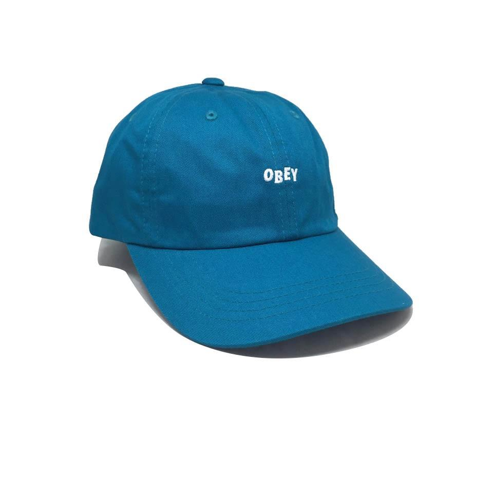 Casquette Obey Curve Vert - Jumble Bar III 6 Panel Teal