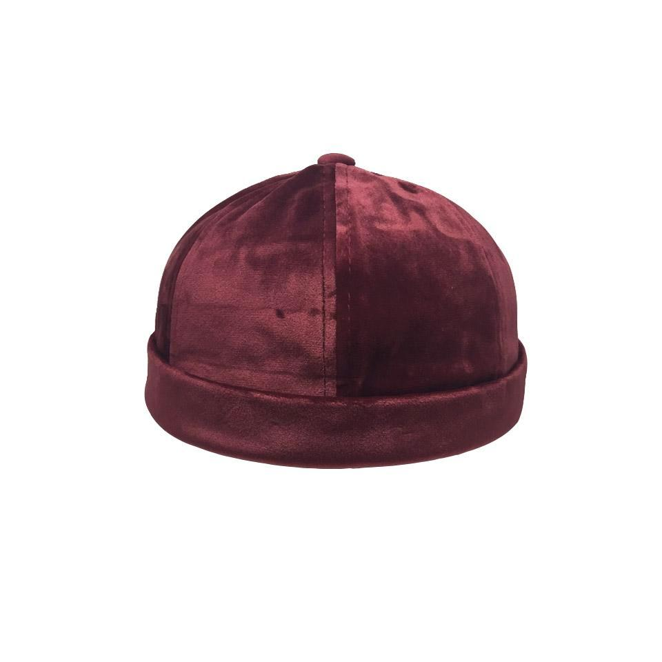 Miki Velours Bordeaux - Bonnet Marin Sailor Beanie Velvet Burgundy