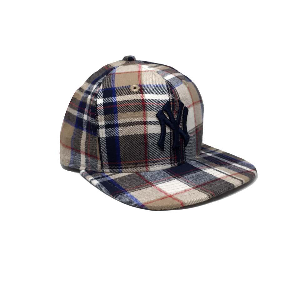 Casquette New Era Ecossais beige - Spring Plaid Yankees 9Fifty