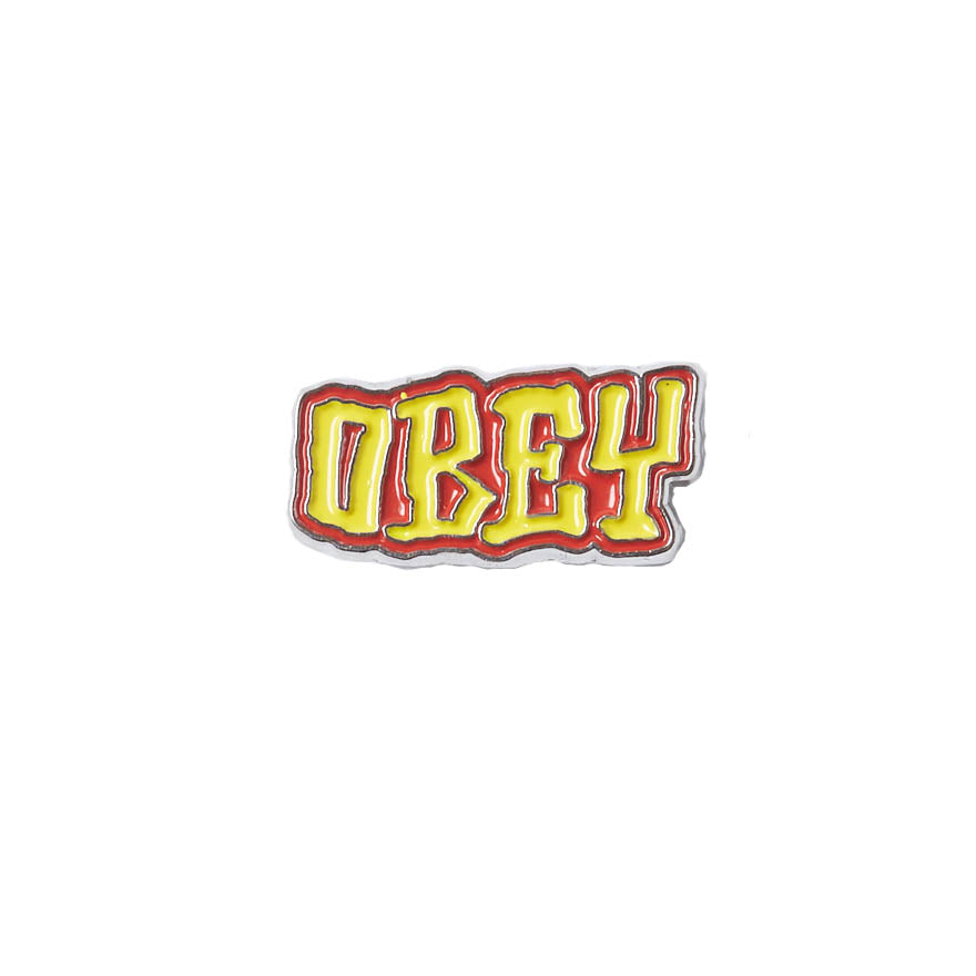 Pin's Obey - Better Days Pin Yellow / Red