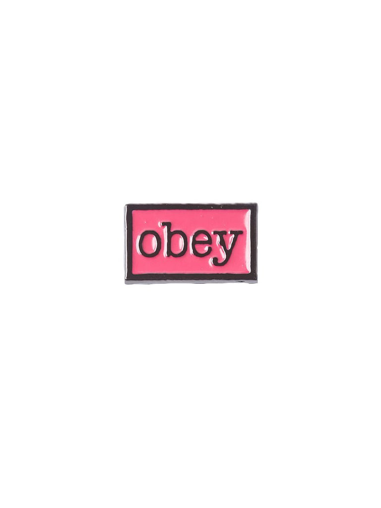 Pin's Obey - Type Pin Magenta / Black
