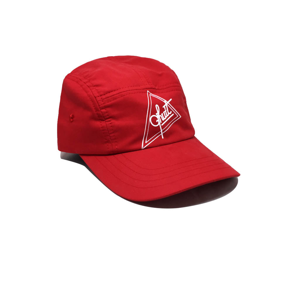 Casquette Qhuit Rouge - Cap Triangle 5 Panel Red