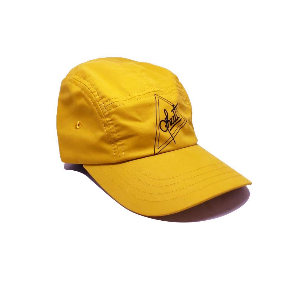 Casquette Qhuit Jaune - Cap Triangle 5 Panel Yellow