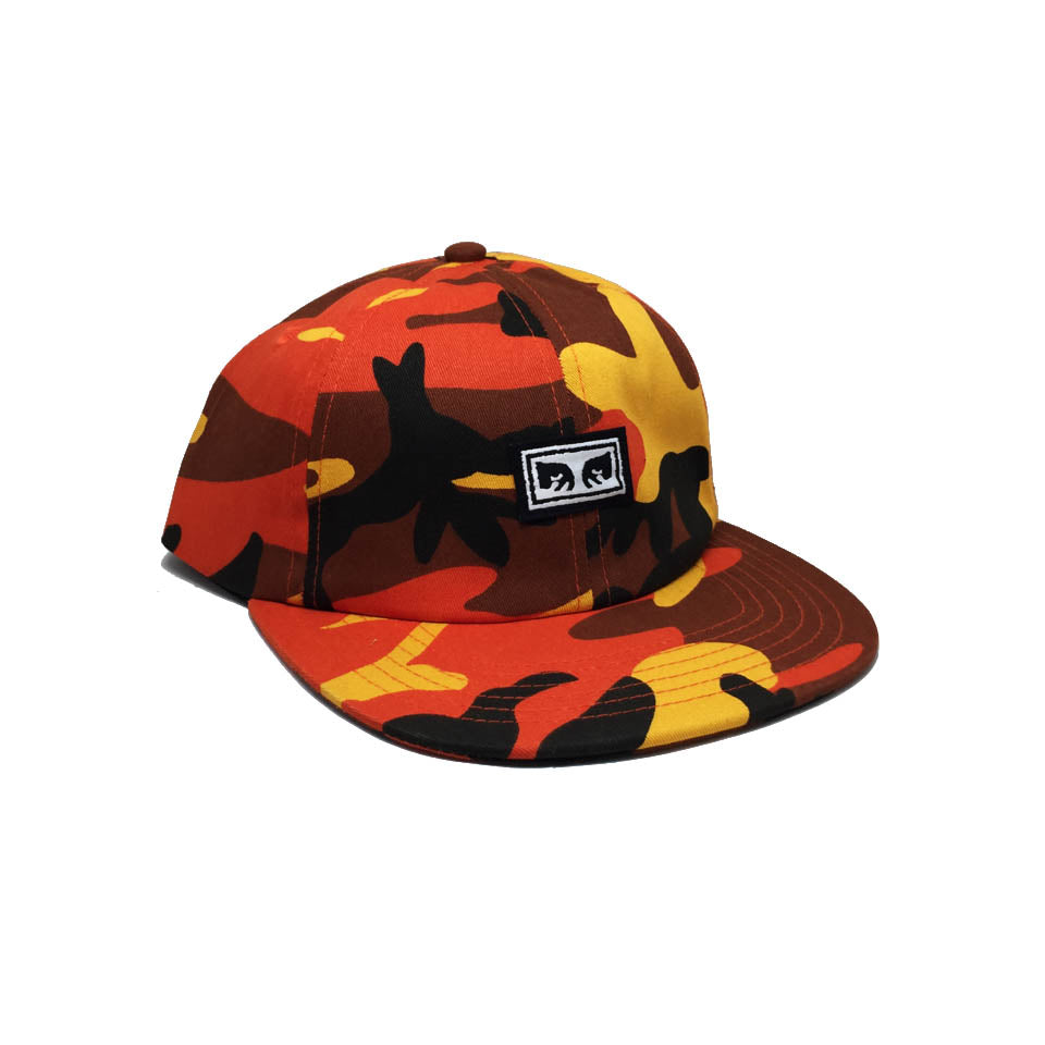Casquette camouflage Obey - Resist 6 Panel Hat Field Orange Camo