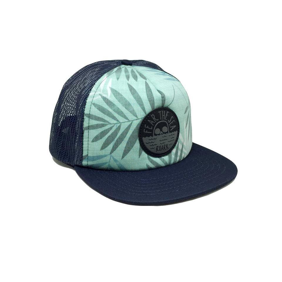 Casquette Roark Fear The Sea Trucker Aqua Bleu Marine Vert