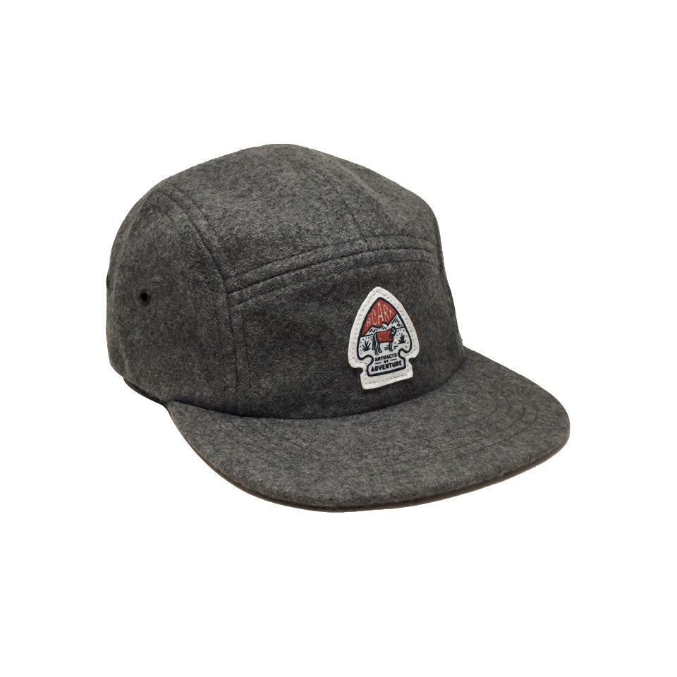 Casquette five panels en laine Roark Lost Camp Grey