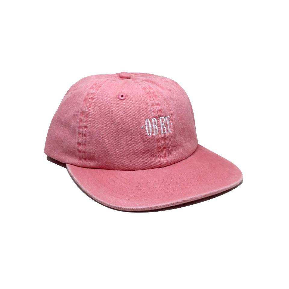 Casquette Obey Rose - Rosa 6 Panel Snapback Pale Coral