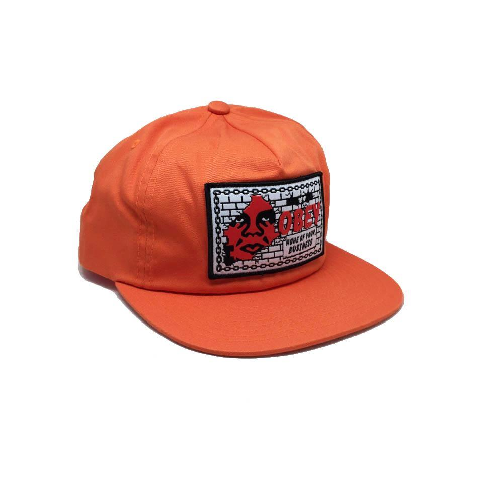 Casquette Obey Orange None Of Your Business - Shout Snapback Orange