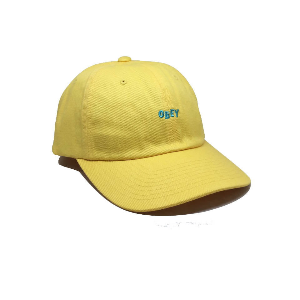 63e2df6369b Obey Curve Yellow Cap-Cutty 6 Panel Snapback Pale Yellow