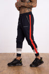 Cut n sew Panel Joggers - Navy - Serious Royalty
