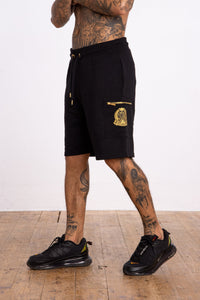 Zip Pocket Crest short - Black - Serious Royalty