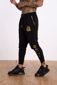 Royalty Jogger Rubber Multi Colour Leg Print - Black - Serious Royalty