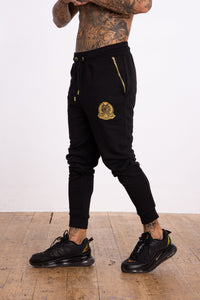 Signature Crest Joggers - Black - Serious Royalty