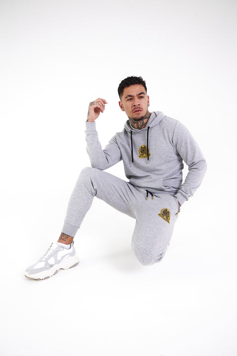 Signature Crest Joggers - Grey - Serious Royalty